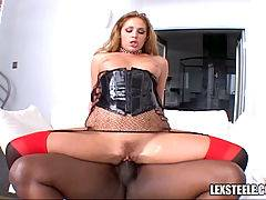 Six interracial pornstar vids with Lauren Phoenix and Lex