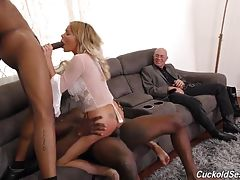 Only the best, most-expensive plastic surgery in order to turn Rachele into the very best black cock slut he can create! Which is the other thing Rachele gives Hubby: the very best sex shows, in their own living room, starring Rachel and any Bull her Hubb
