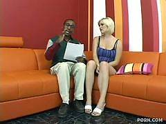 This undercover ebony stud actually has white bitches believing he's a well-tanned white guy! These girls wouldn't normally fuck a black dude, so he goes undercover to seduce these dumb chicks to make them think he's really white. Once he gets them in bed