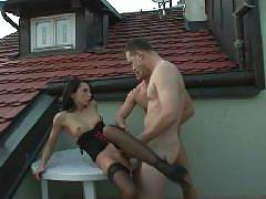 Dark haired bi curious lady Eva Tores hooks up with a hot bisexual couple and invited them to go for a kinky threesome. Eva gives the couple blowjob and later ends up going for simultaneous fucking. The couple engages in anal sex while her pussy gets