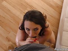 Turns out Prince`s neighbor is none other than Mandingo, and it doesn`t take long before he`s peering through Prince`s front door!! Soon, Jade is on her knees with BBC stuffed in her mouth! Before you know it, Jade`s sweet little pussy is stuffed as well.