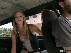 Bangbus where hundreds of the hottest amateur girls picked right off the street, banged on the road and then tossed back out to the curb!